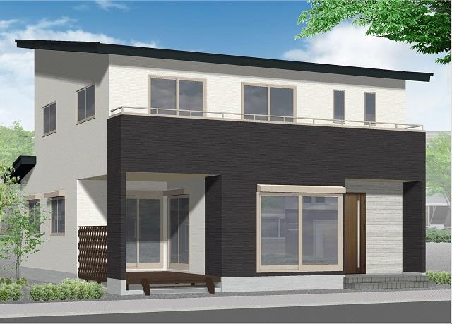 真岡市の二階建て注文住宅